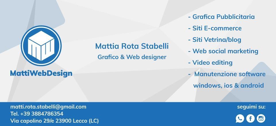Mattia Rota Stabelli - MattiWebDesign